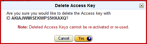 delete access key