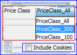 CloudFront Price Class and Include Cookies with Logging using Bucket Explorer