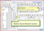 Show balloon tooltip to create amazon s3 bucket